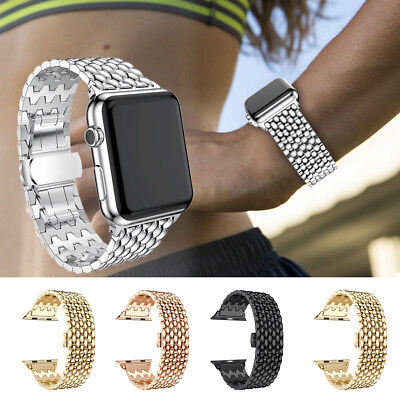 For Apple Watch iWatch 4 3 2 1 38/40/42/44mm Stainless Steel Bracelet Strap Band