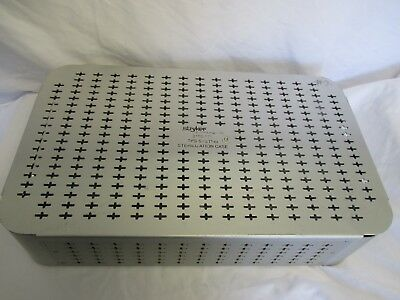 Sterilization Container Stryker 5100-175 TPS System Tray with 2 Inserts Used