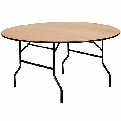 Flash Furniture 60'' Round Wood Folding Banquet Table