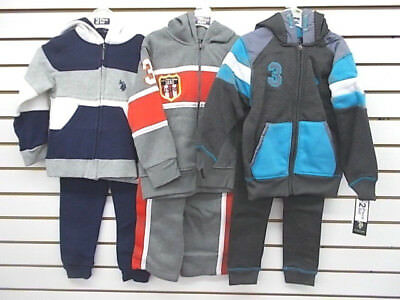 Boys US Polo Assn. $44 2pc Assorted Hoodie Sets Size 4 - 7