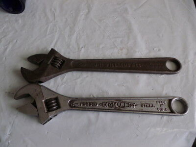"Vintage J.H. Williams & Co.& diamond calk horses  12"" Crescent Adjustable Wrench"