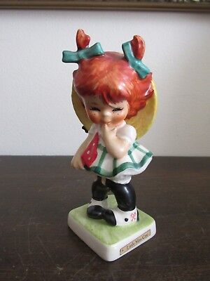 Goebel Charlot Germany Porcelain Figurine BYJ 4 Red Head Little Miss Coy 1957