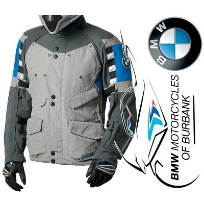 BMW Motorrad Motorcycle Genuine Rallye Grey / Blue Jacket - Men's °