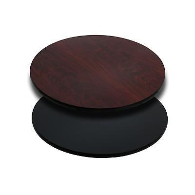 Flash Furniture 24'' Round Table Top with Black or Mahogany Reversible Laminate