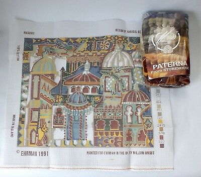 Vintage EHRMAN Madurai  Cushion Tapestry Kit  Needlepoint With Wools Threads Pat