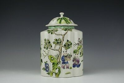 Antique Asian Chinese Porcelain Maid with Children in Garden Famille Rose Jar