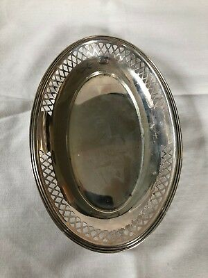 Dominick & Haff 3212 Sterling Silver Pierced Oval Candy Dish 6 1/8""