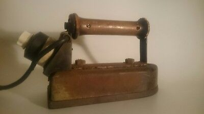 Old Vintage Antique Early 20th Century Electric Iron Large kitchenalia