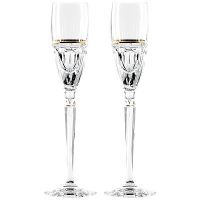 WATERFORD CRYSTAL ELYSIAN Champagne Flutes - New - 2 Available