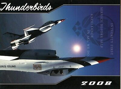 U.s. Thunderbirds Event Program - 2008