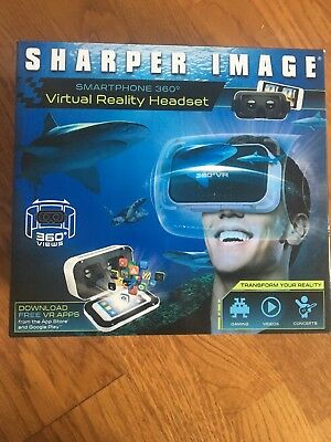 Sharper Image Virtual Reality Vr Headset Smartphone 360 500