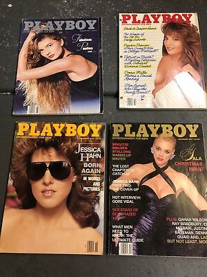 Vintage PLAYBOY - Centerfolds- Lot Of 4 Magazines- 1987