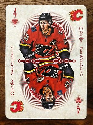 2018-19 Opc Four Of  Hearts Sean Monahan (( Playing Cards ))