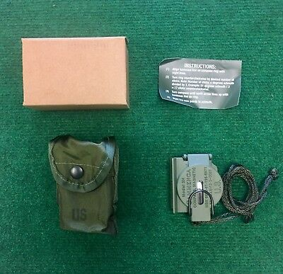 Tritium Lensatic Compass Model 3H Cammenga Olive Drab US Army Issue exp. 03/28