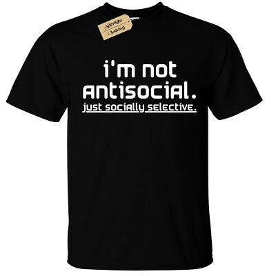 Kids Boys Girls I'm not anti social just socially selective T-Shirt Mens Funny