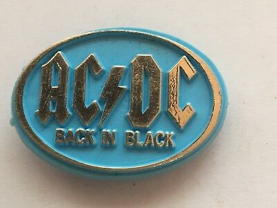 AC/DC Back In Black Plastic Pin Badge (see pics)