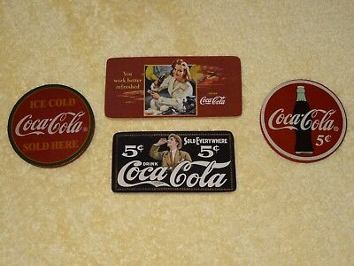 Coca Cola Wooden Magnets - Lot Of 4