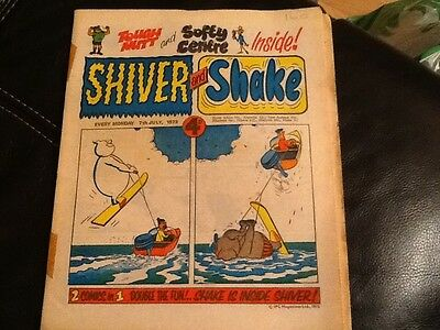 SHIVER AND SHAKE  Paper comic JULY 1973 ISSUE No.18 Still in great condition