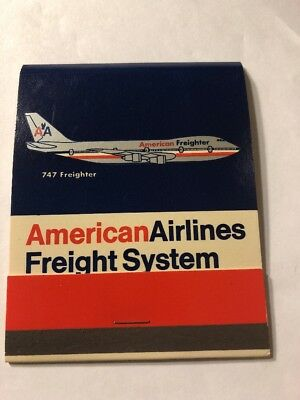 Vintage Matchbook 1970's American Airlines Freight System Super Size Book XL4$Dr