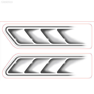 CF66 Auto Car Vehicle 3D Fake Side Air Vents Outlet Decorative Stickers Decals S