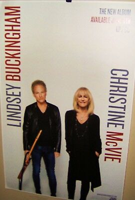 LINDSEY BUCKINGHAM & CHRISTINE McVIE Promo Poster Fleetwood Mac Very COOL