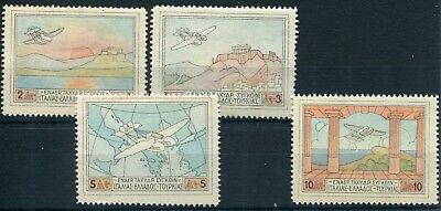 Weeda Greece #C1-C4 VF MH 1926 Air Post Stamps Issue CV $27.20