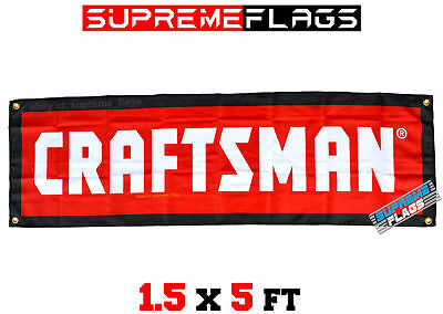 Craftsman Banner Flag American Tools Mechanic Shop Garage Red (18x58 in)