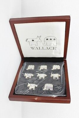 Wallace Party Animals TIC TAC TOE Democrat Donkeys Republican Elephants