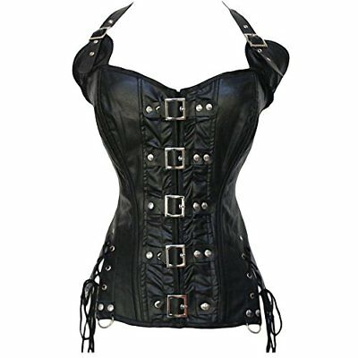 Nero#6 XX-Large Beauty-You Donna Sexy Burlesque Corsetto Ecopelle Cintura (n6e)