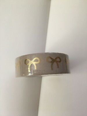 Simply Gilded Nude with Champagne Foil Bow 15mm Washi Tape NEUTRALS