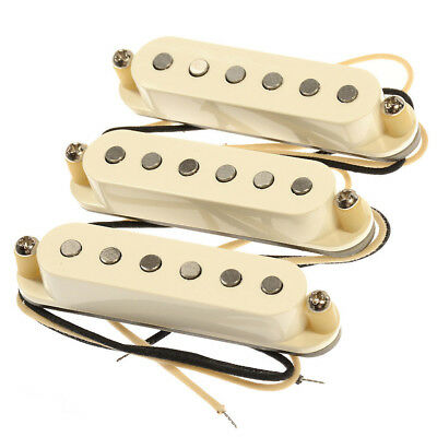 New Lindy Fralin Blues Special Strat Pickup Set of 3 Cream Baseplate Made in USA