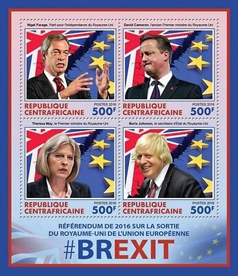 Z08 CA16515a CENTRAL AFRICA 2016 BREXIT MNH