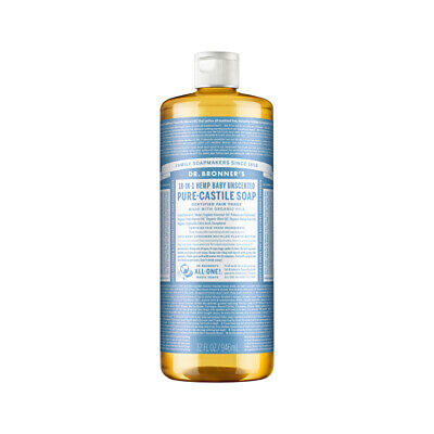 Dr. Bronner's Pure-Castile Soap Liquid Baby Unscented 946ml Body