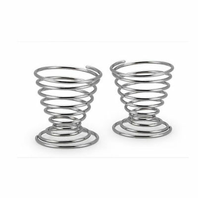 Boiled Eggs Holder Stand Stainless Steel Spring Wire Tray Egg Cup Storage New
