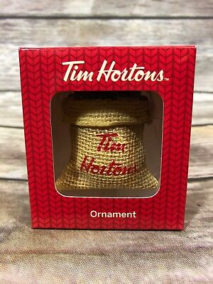Tim Hortons Christmas Tree Ornament Bag of Coffee Beans 2016 New Holiday