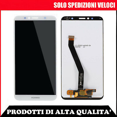 Touch Screen + Schermo Display Lcd Huawei Y6 2018 Atu-L21 Honor 7A Bianco Vetro