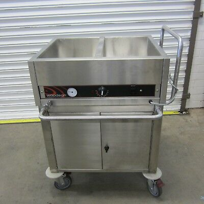 Woodson Bain Marie W.BML21 with Stainless Steel Cupboard/Trolley