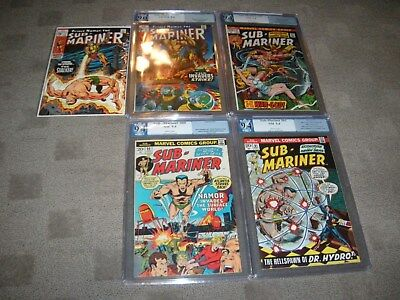 Sub-Mariner  # 21,57,60 & 61  PGX  CGC 9.0 & 9.4  ( 4 graded books only)