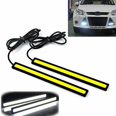 2X 12V White DRL LED COB Lights Bars Camping Caravan Boat Car Fof Waterproof Str