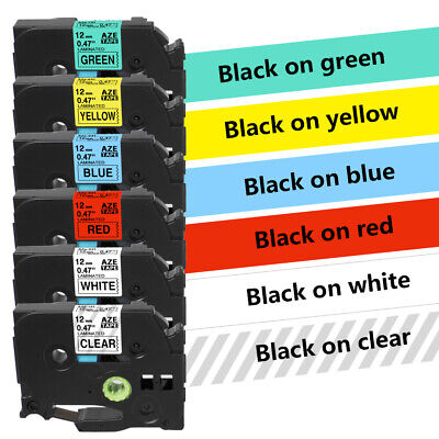 """5PK TZe-231-TZe-731 Label Tape Marker Compatible for Brother P-Touch 12mm 1/2"""""""