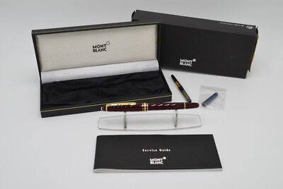 MONTBLANC MEISTERSTUCK NO 144R BORDEAUX RED FOUNTAIN PEN WITH 14k GOLD Nib