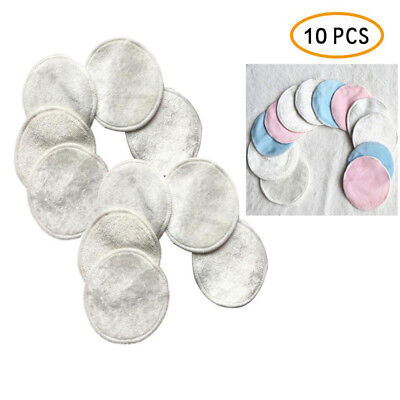 10Pcs Bamboo Reusable Makeup Remover Pads Wipes Washable Facial Rounds Scrubbies