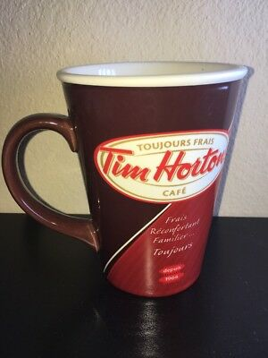 "Tim Hortons 2012 Mug & Box Collectible Limited Edition Red ""Always Fresh"""