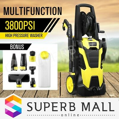 Multifunctional 3800PSI 8.2LPM High Pressure Washer Water Pump Hose Cleaning