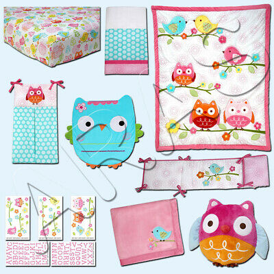Love Bird 9-pc (W/MOBILE, BLANKET & WALL ART) Crib Bedding Set by NoJo