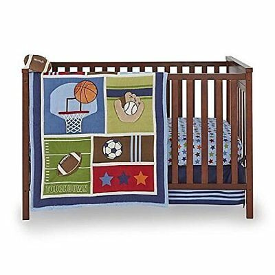 Little Bedding: High Five Sports 5 Piece (W/Bumper) Crib bedding Set by NoJo