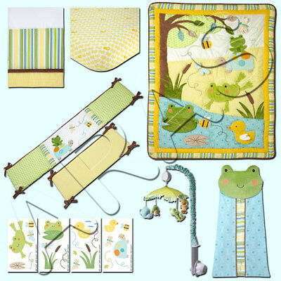 Carters Pond Collection 7pc. Bedding Set- Unisex (w/ Bumper) Discontinued