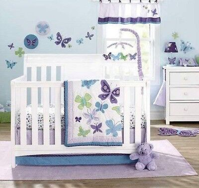 Beautiful Butterfly 11-Piece Crib Bedding Set by NoJo