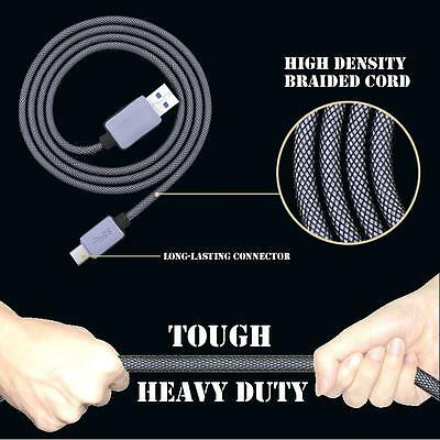 Genuine Heavy Duty Nylon Braided USB 3.1 Type-C Data Sync Charger Charging Cable