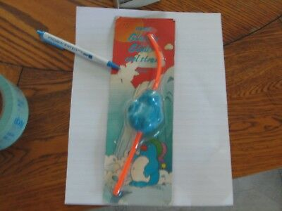 1992 new sealed Avon Glacier Glider magic straw Penguin vintage on card